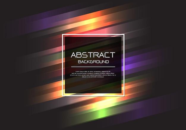 Kleurrijke lijnsnelheid lichte zwarte achtergrond