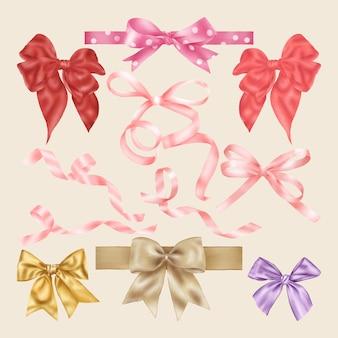 Kleurrijke linten en strikken decoratie