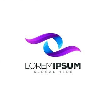 Kleurrijke logo ontwerp vectorillustratie