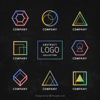 Kleurrijke logo's met geometrische figuren
