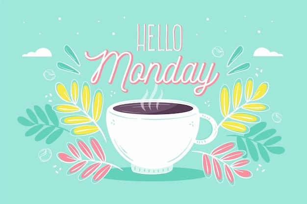 Kleurrijke maandag achtergrond