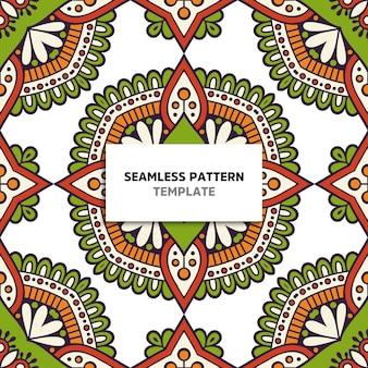 Kleurrijke manda naadloze patroon