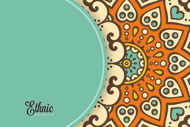 Kleurrijke mandala achtergrond sjabloon