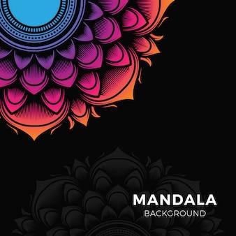 Kleurrijke mandala-achtergrond