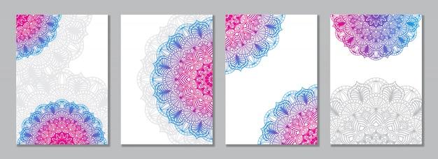 Kleurrijke mandala cover set
