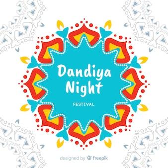 Kleurrijke mandala dandiya achtergrond