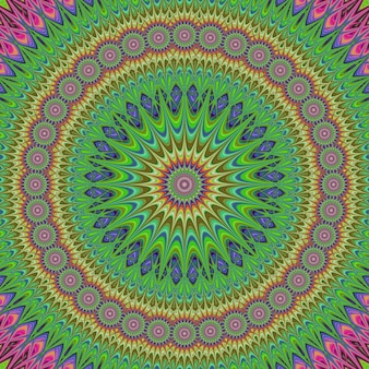 Kleurrijke mandala fractale ontwerp achtergrond