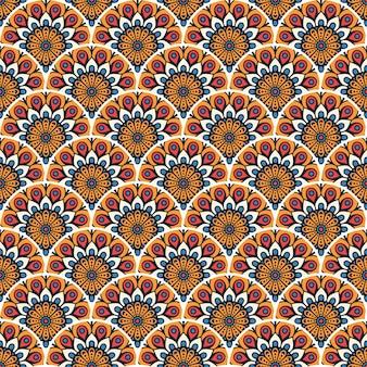 Kleurrijke mandala naadloze patroon illustratie