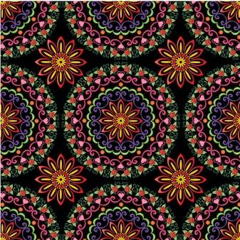 Kleurrijke mandala naadloze patroon