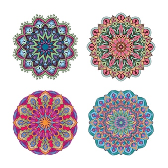 Kleurrijke mandala-ontwerpen