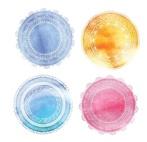Kleurrijke mandala stempels