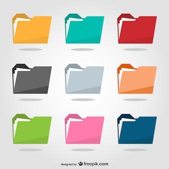 Kleurrijke mappen inpakken