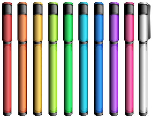 Kleurrijke markeringen