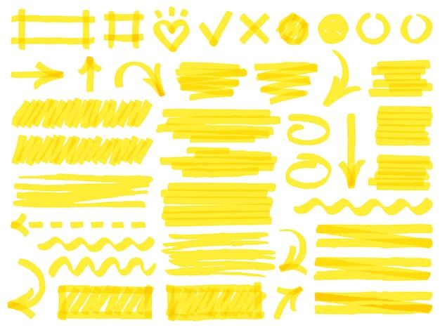 Kleurrijke markeringslijnen