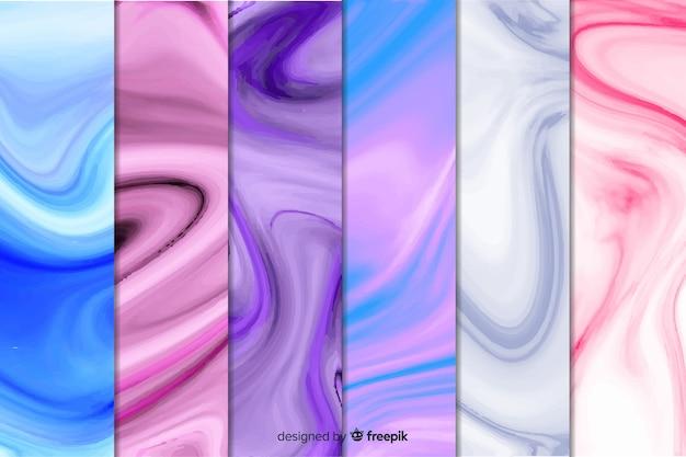 Kleurrijke marmeren collectie als achtergrond