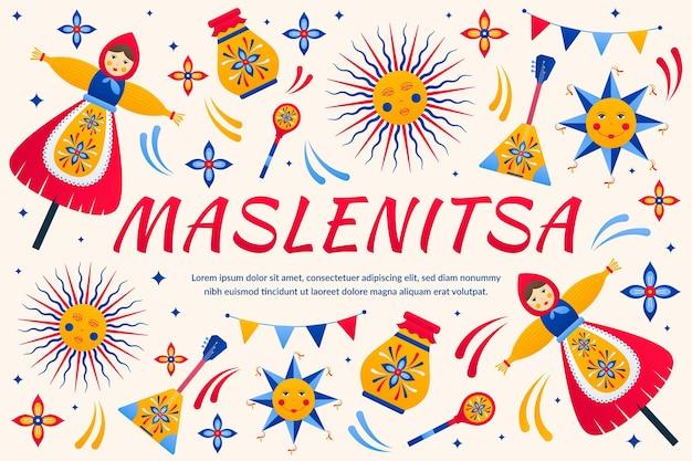 Kleurrijke maslenitsa-illustratie