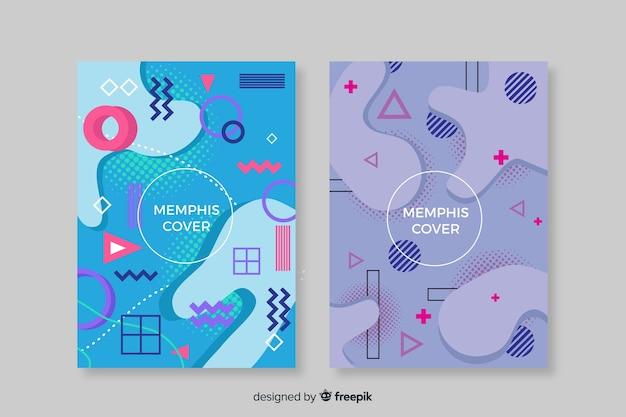 Kleurrijke memphis covers collectie