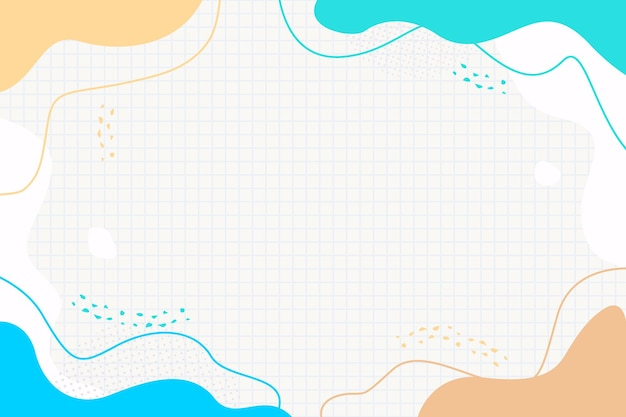 Kleurrijke memphis golven vloeibare abstracte achtergrond voor brochure folder banner sjabloon design