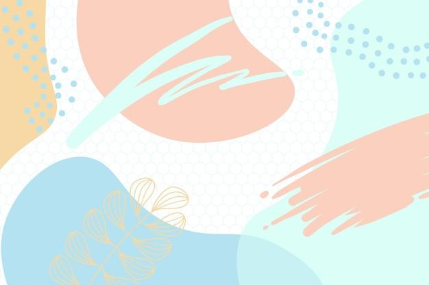 Kleurrijke memphis moderne abstracte vormen tosca roze met zeshoek achtergronden vector