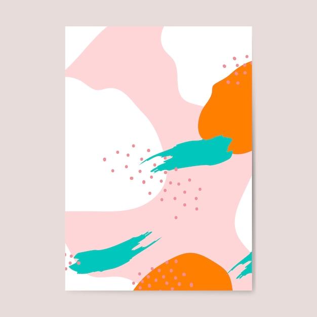Kleurrijke memphis-stijlaffiche