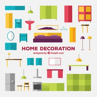 Kleurrijke meubels pak
