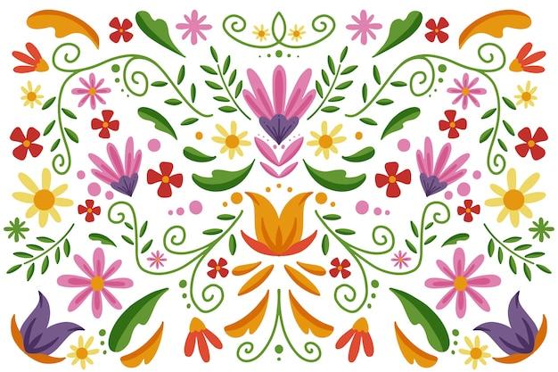 Kleurrijke mexicaanse behangstijl