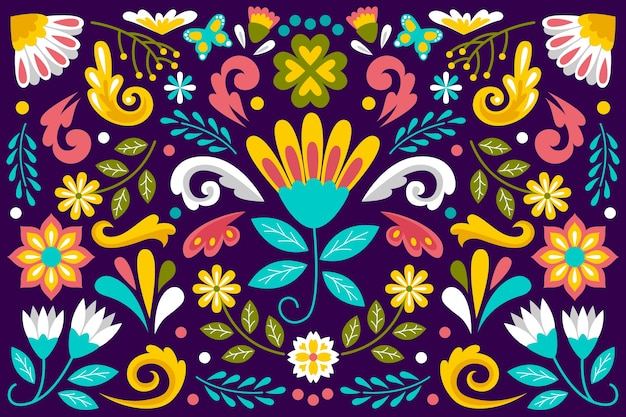 Kleurrijke mexicaanse stijl als achtergrond