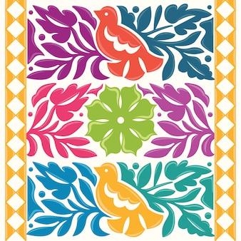 Kleurrijke mexicaanse traditionele textielborduurstijl uit oaxaca; mexico