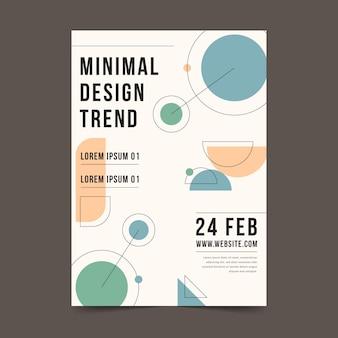 Kleurrijke minimale flyer-sjabloon