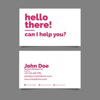 Kleurrijke minimale visitekaartje sjabloon concept