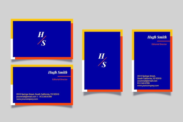 Kleurrijke minimale visitekaartjesjabloon