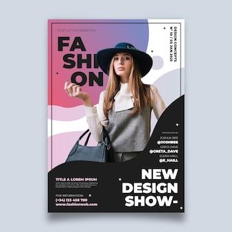 Kleurrijke mode-poster met foto