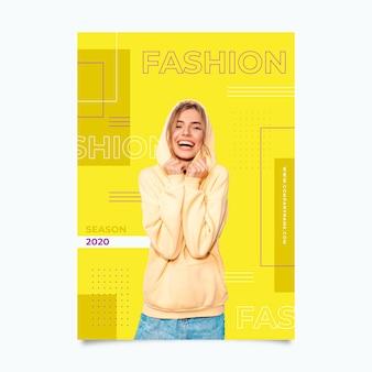 Kleurrijke mode poster sjabloon