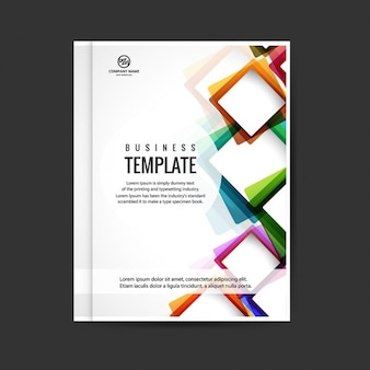 Kleurrijke moderne brochure