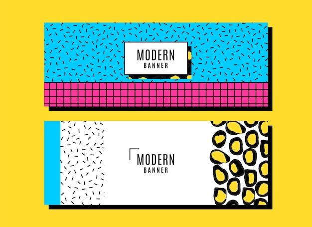 Kleurrijke moderne collectie banners