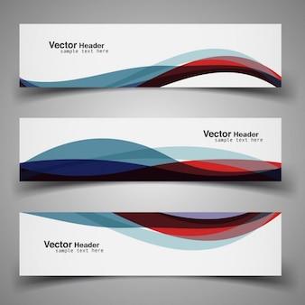 Kleurrijke moderne golvende header