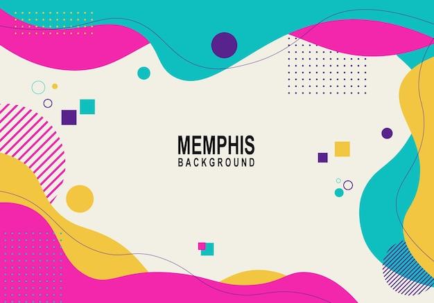 Kleurrijke moderne memphis-achtergrond vectorillustratie