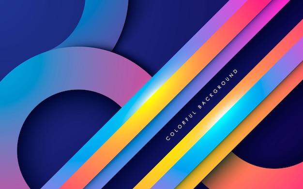 Kleurrijke moderne overlappende lagenachtergrond