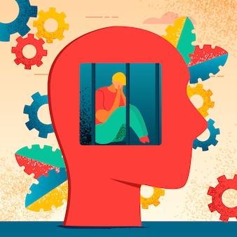 Kleurrijke moderne platte karakters neurologie