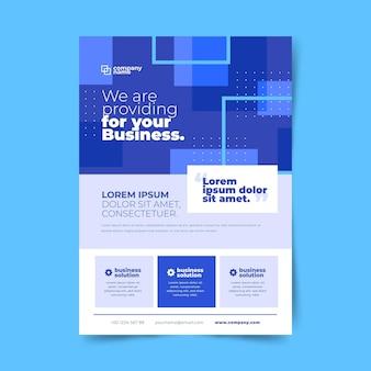 Kleurrijke moderne zakelijke flyer-sjabloon