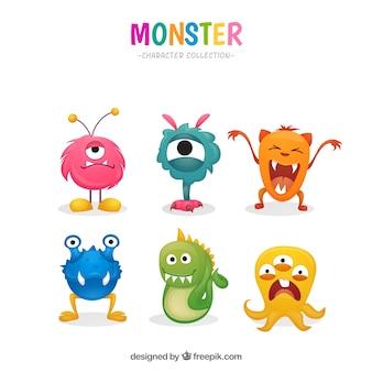 Kleurrijke monsters collectie