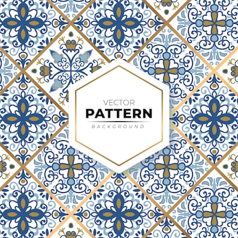 Kleurrijke mozaïek marokkaanse naadloze patroon achtergrond