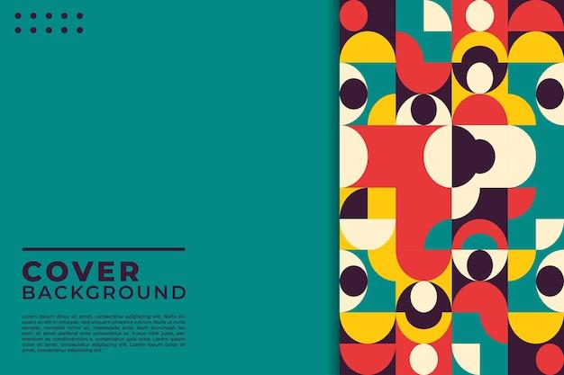 Kleurrijke mozaïek neo geometrische dekkingsachtergrond