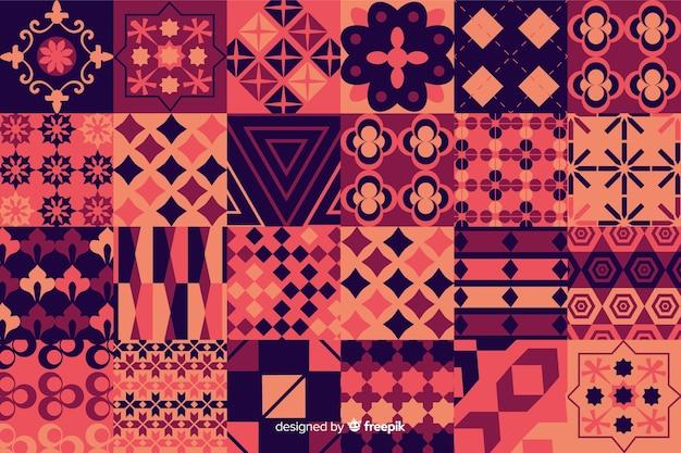 Kleurrijke mozaïekachtergrond met geometrische vormen