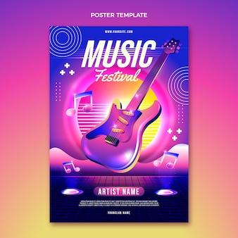 Kleurrijke muziekfestivalposter met kleurovergang