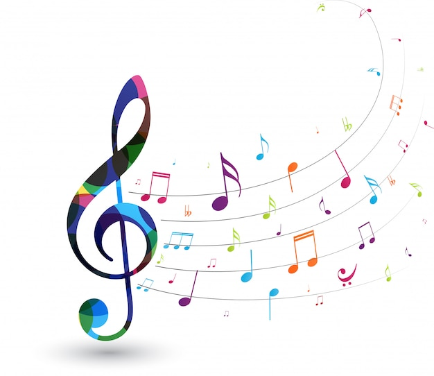 Kleurrijke muzieknoten