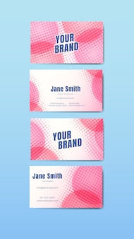 Kleurrijke naamkaartenset