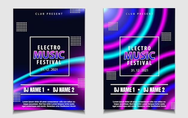Kleurrijke nacht dansfeest muziek flyer of posterontwerp