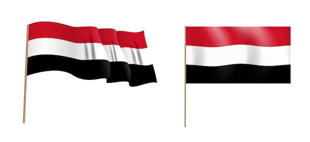 Kleurrijke naturalistische wapperende vlag van egypte