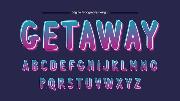 Kleurrijke neon cartoon artistieke lettertype